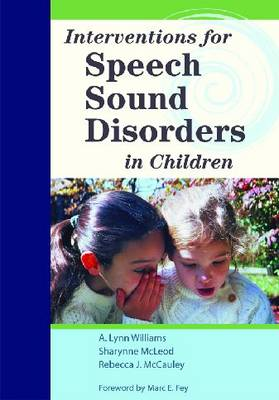 Interventions for Speech Sound Disorders in Children (With DVD)