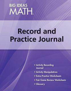 Big Ideas Math Algebra 1, Record and Practice Journal (1 year)