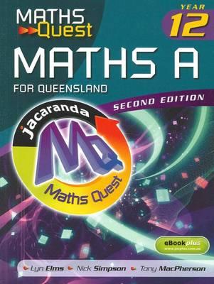 Maths Quest Maths A Year 12 for Queensland + eBookPlus