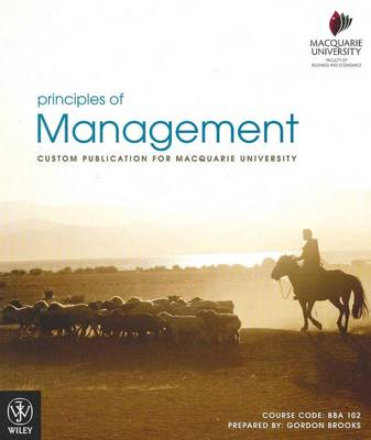Principles of Management Custom Publication for Macquarie University Colour