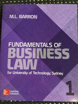 Fundamentals of Business Law UTS CUSTOM 26100