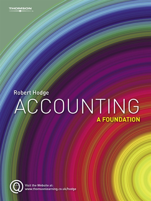 Accounting : A Foundation