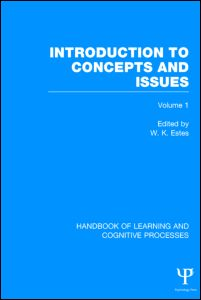 Handbook of Learning and Cognitive Processes (Volume 1)