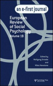 European Review of Social Psychology: Volume 19