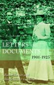 Letters and Documents: 1901—1925