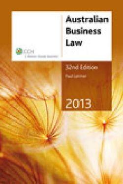 Australian Business Law 2013