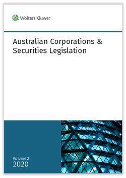 Australian Corporations & Securities Legislation 2020 Volume 2