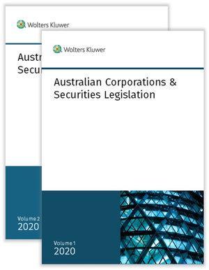 Australian Corporations & Securities Legislation 2020 - Volume 1 & 2 Set
