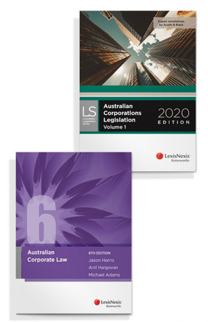 Australian Corporate Law, 6th Edition and Australian Corporations Legislation 2020 (Bundle)