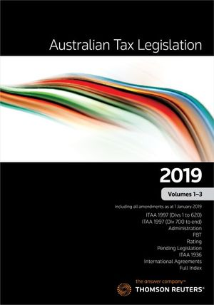 Australian Tax Legislation 2019 Vol 1-3