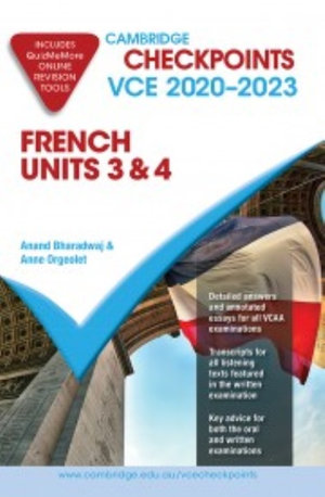 Cambridge Checkpoints VCE French Units 3&4 2020-2023