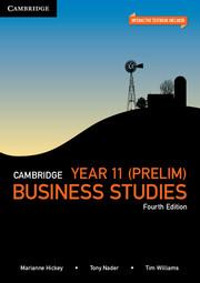 Cambridge Year 11 Preliminary Business Studies