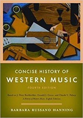 Concise History Western Music 4E + Burkholder Anthology of Western Music Concise 6CD Set