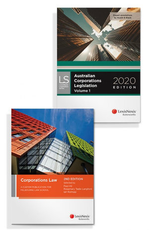 Corporations Law: A Custom Publication for Melbourne Law School, 2nd edition and Australian Corporations Legislation 2020 (Bundle)