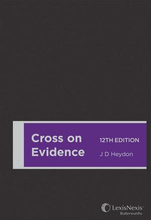 Cross on Evidence, 12th edition