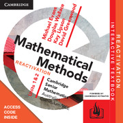 CSM VCE Mathematical Methods Units 1 and 2 Reactivation (Card)