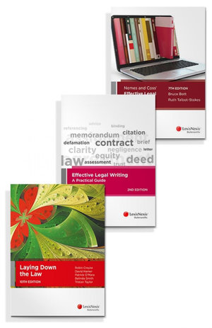 Effective Legal Writing: A Practical Guide, 2nd edition, Laying Down the Law, 10th Edition and Nemes & Coss' Effective Legal Research, 7th edition (Bundle)