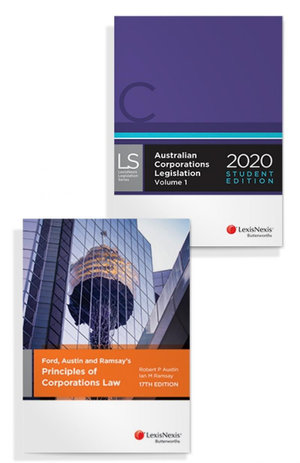 Ford, Austin and Ramsay's Principles of Corporations Law, 17th edition and Australian Corporations Legislation 2020 - Student Edition (Bundle)