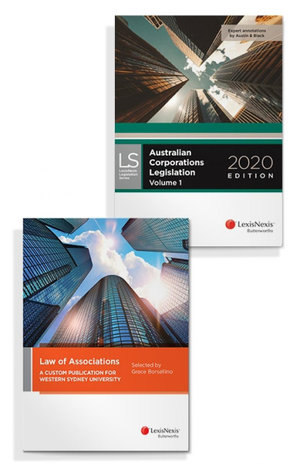 Law of Associations: A Custom Publication for Western Sydney University and Australian Corporations Legislation 2020 (Bundle)