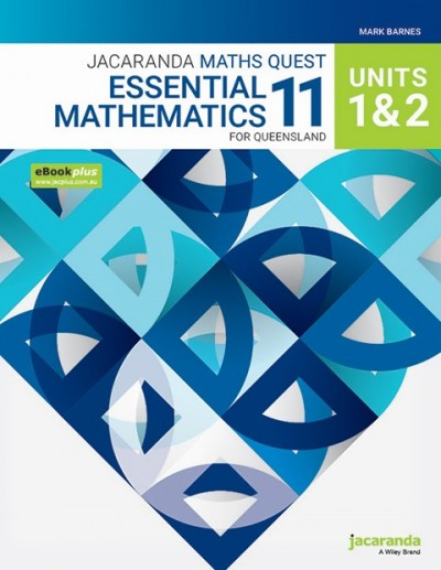 Jacaranda Maths Quest 11 General Mathematics Units 1&2 for Queensland eBookPLUS & Print + StudyON General Mathematics Units 1&2 for QLD (Book Code)