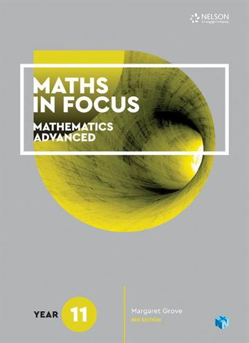 Maths in Focus 11 Mathematics Advanced Student Book with 1 Access Code