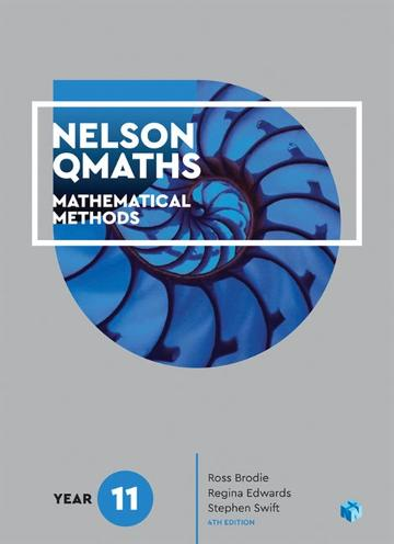 Nelson QMaths 11 Mathematics Methods Student Book with 4 Access Codes