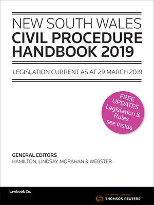 NSW Civil Procedure Handbook 2019