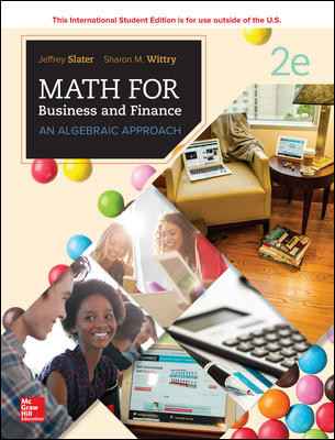 ISE MATH FOR BUSINESS AND FINANCE: AN ALGEBRAIC APPROACH