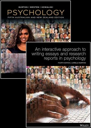 Psychology, 5th Australian and New Zealand Edition & An Interactive Approach to Writing Essays and Research Reports in Psychology, 4e Print Pack