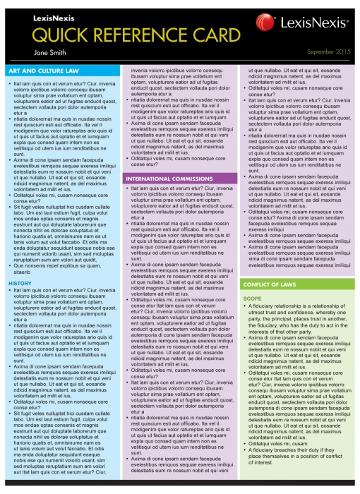 Quick Reference Card: Torts, 2nd Edition