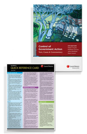 Quick Reference Card: Administrative Law, 3rd edition and Control of Government Action: Text Cases and Commentary, 5th edition