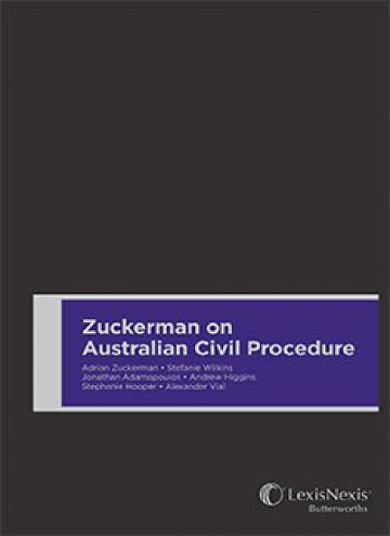 Zuckerman on Australian Civil Procedure (Hardback)