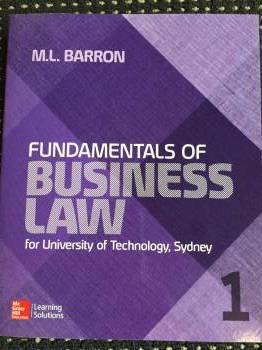 Fundamentals of Business Law UTS CUSTOM 26100