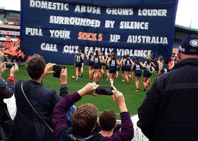 Carlton Respects Banner AFLW