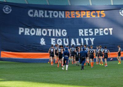 Carlton Respects Banner