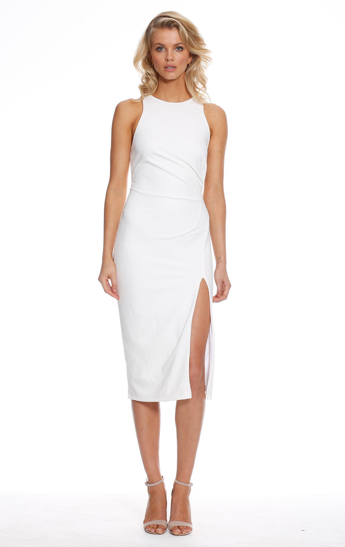 Pasduchas Queen Bee Midi Dress Ivory