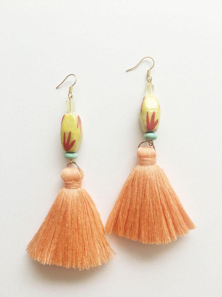 Natalie Alamein Riharb Peachy Earrings M