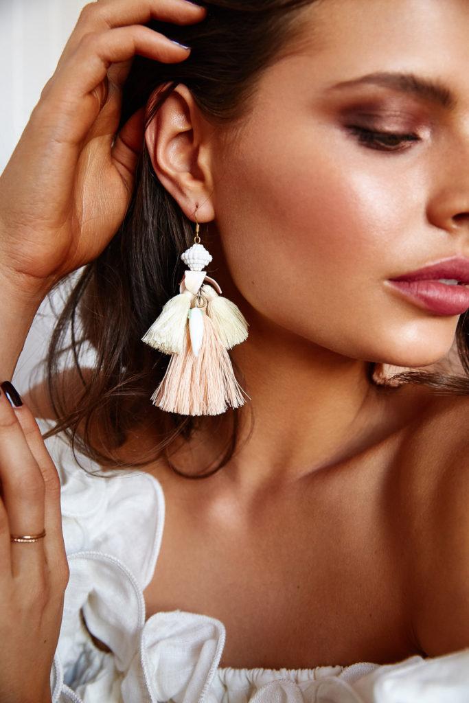 Natalie Alamein Alice the Carrot Blushful Earrings