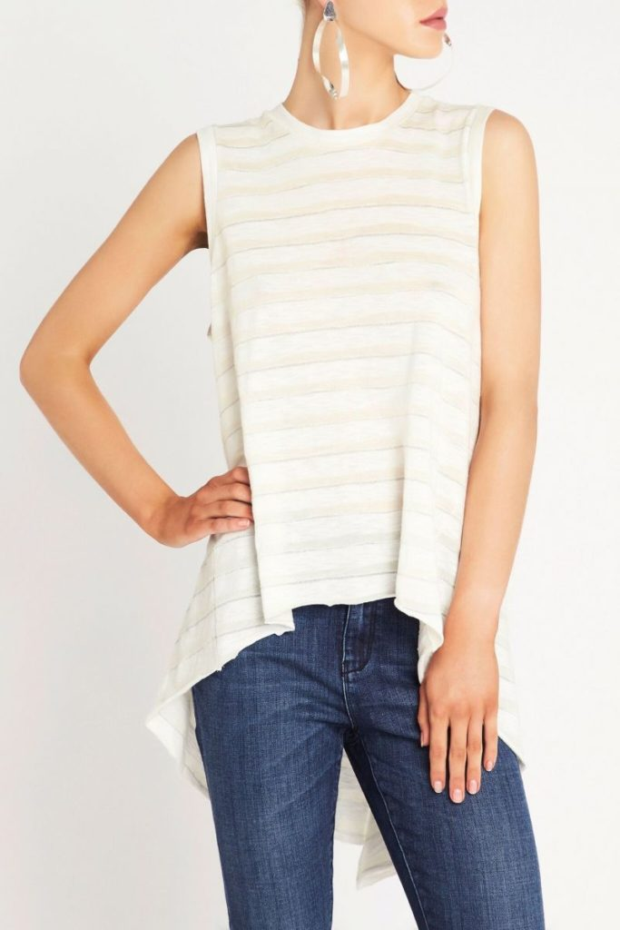sass and bide Light Traveller Top – Ivory/Silver