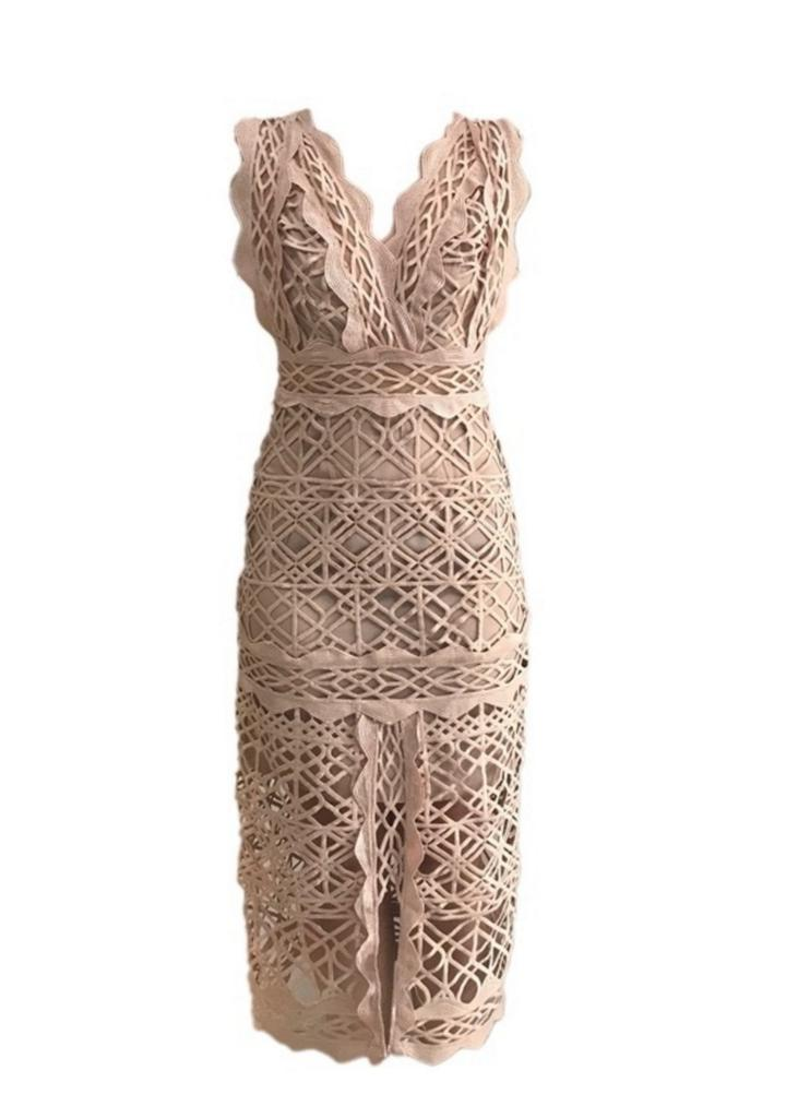 Thurley Coney Island Dress- Nude