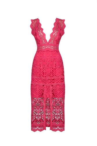 Thurley Coney Island Dress- Fuschia