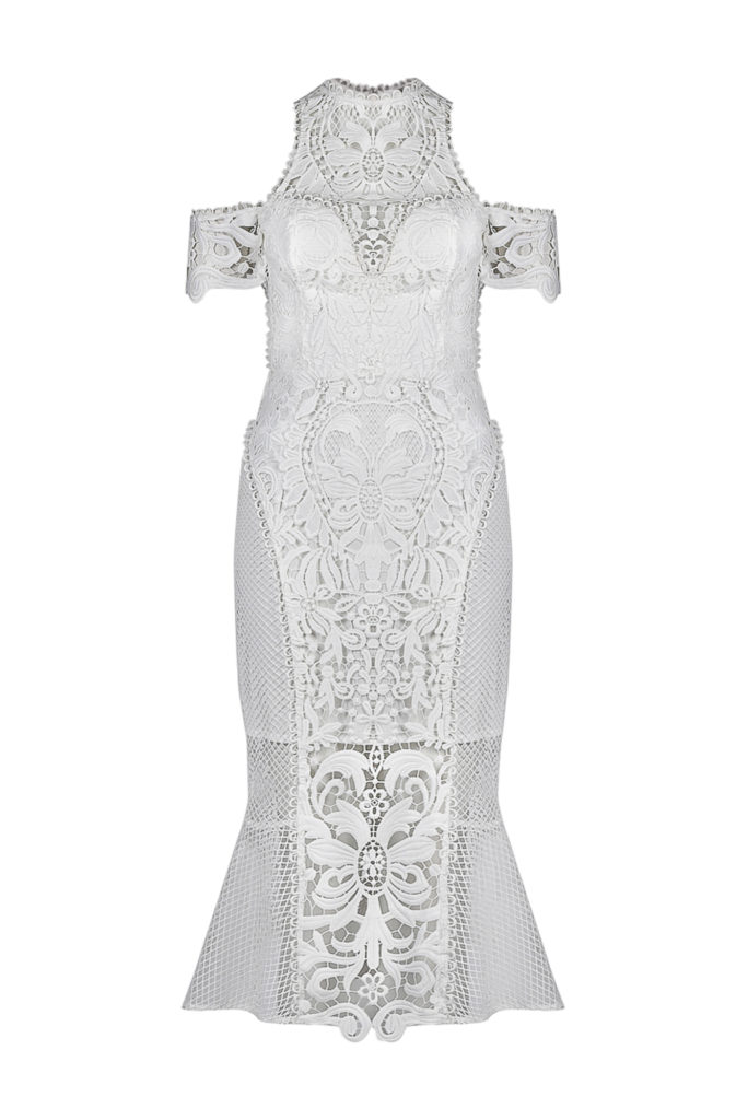 Thurley Enchanted Garden Midi Dress – White