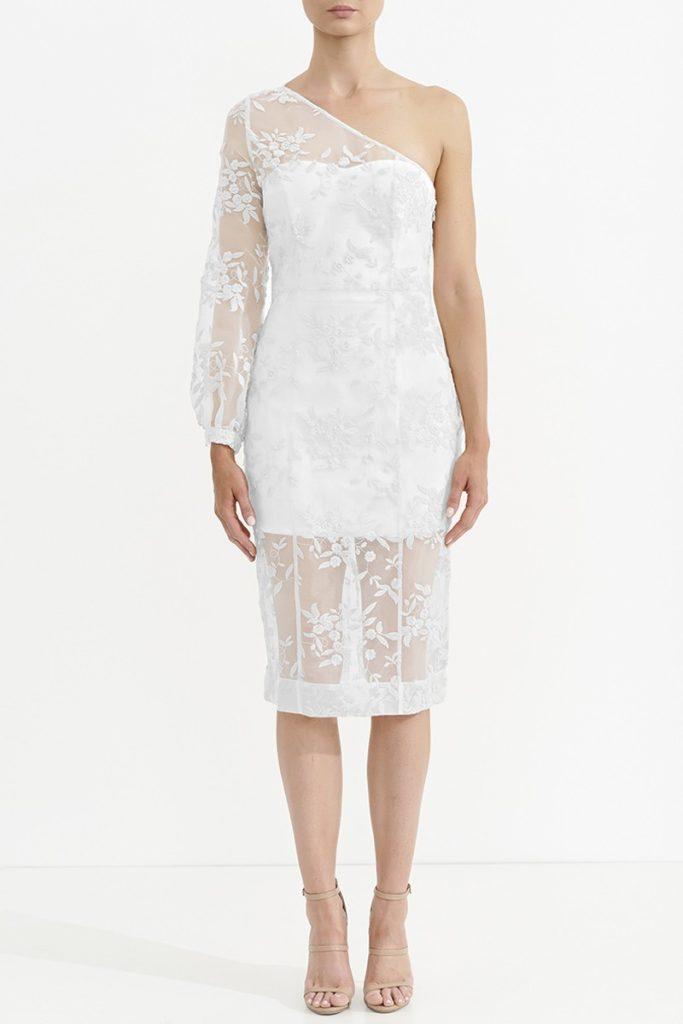 ASILIO Wysteria Lace One Shoulder Dress