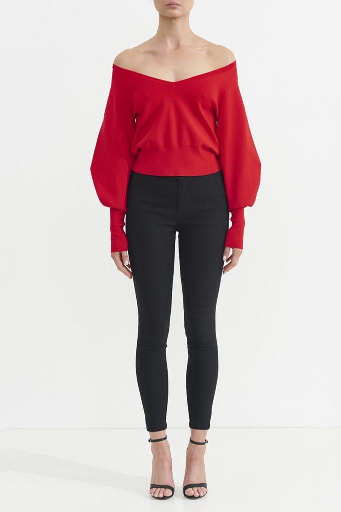 ASILIO Atone Milano Knit Sweater – Red