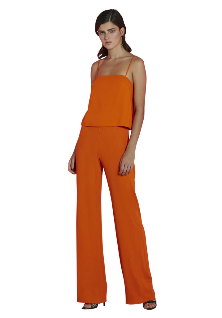 ByJohnny Bold Block Crop Cami – Tangerine
