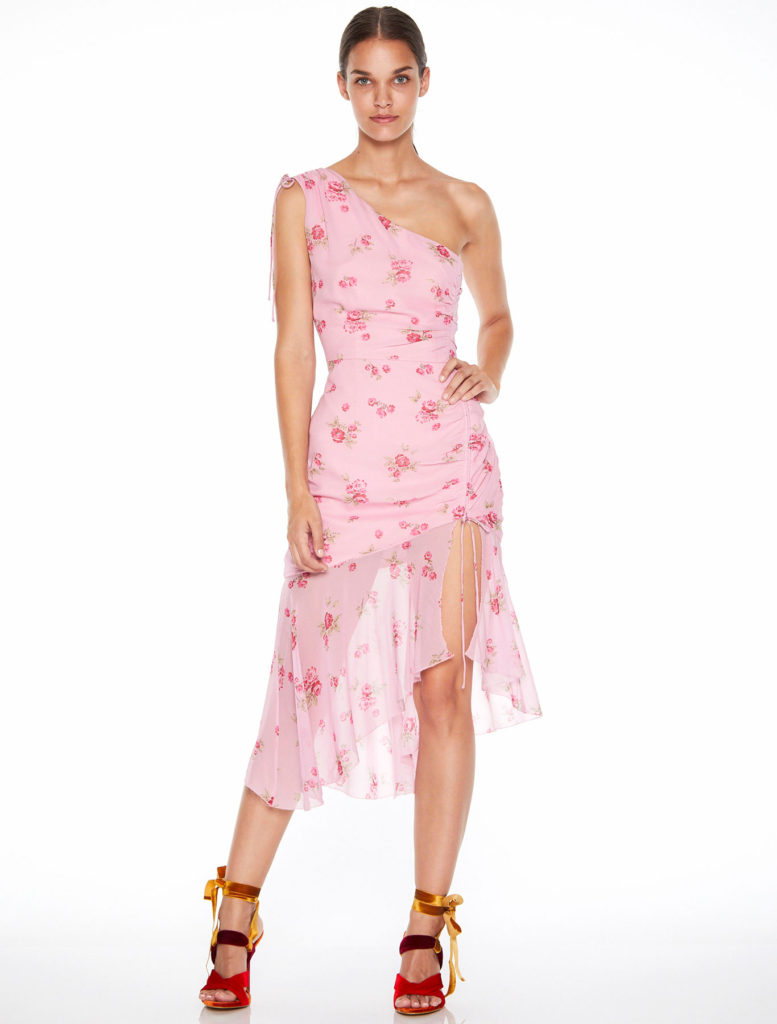 La Maison Talulah Blushing Asymmetric Midi Dress