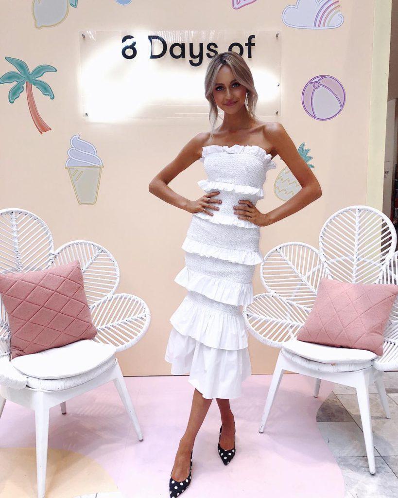 Elliatt Onyx Dress – White
