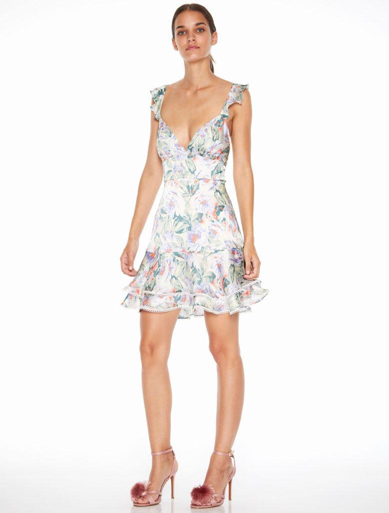 La Maison Talulah Floral Mist Mini Dress