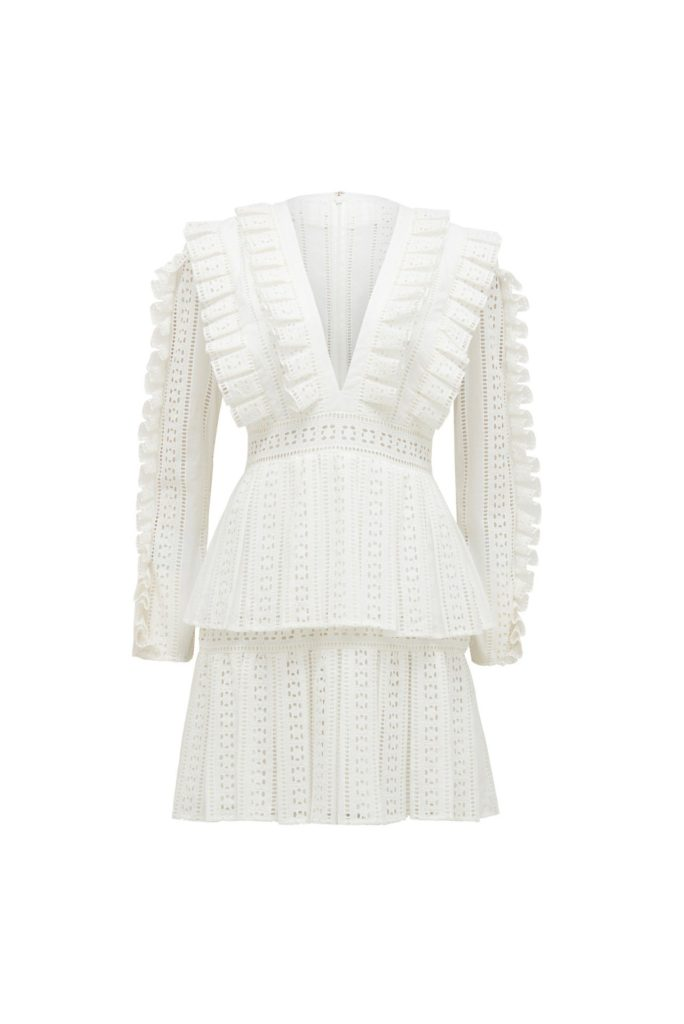 Thurley Dandelion Dress – White