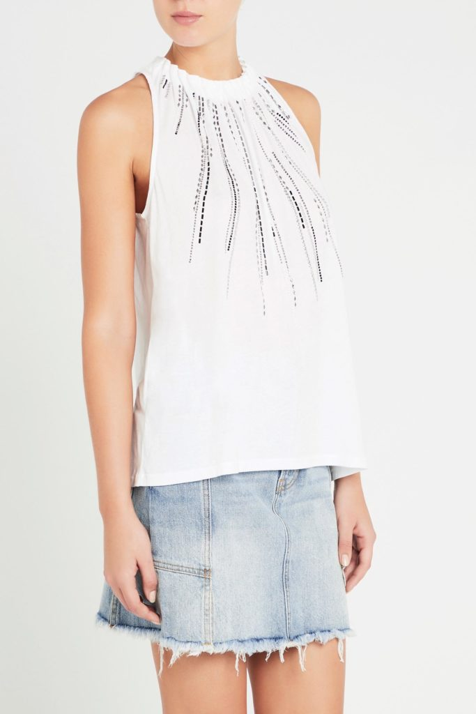 sass and bide Honey Cooler Tee Ivory
